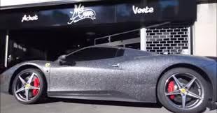 gold glitter car 458 italia covered in glitter