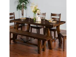Dining Room Accent Furniture Sunny Designs Tuscany Distressed Mahogany Extension Table W