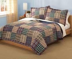King Quilt Bedding Sets Plaid Patchwork Boy Bedding Quilt Bedding Set