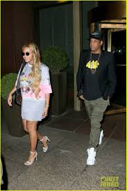 beyonce wears chic t shirt dress for date night with jay z photo