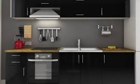 meuble de cuisine noir cuisine laque stunning cuisine noir et blanc inspirant