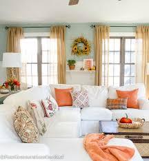 home interior ideas 2015 fall decorating ideas fall home tour 2015 white sofas living