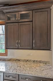 hard maple wood unfinished prestige door grey stained kitchen