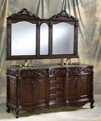 72 inch double vanity with granite top and mirror