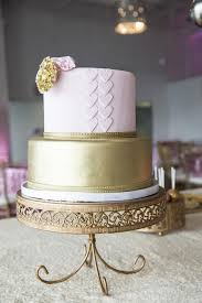 royal pink and gold baby shower tiered cake baby shower ideas