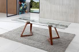 industrial glass dining table expandable glass dining table equalvote co within idea 0