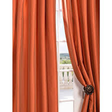 faux silk taffeta curtains orange home decorations beautiful