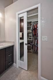 Pocket Closet Door Traditional Closet