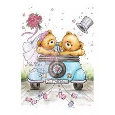 dã corer voiture mariage ton dessin ours mariage voiture juste mariée studio