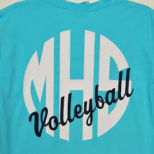 Comfort Colors Shirts 2016 Mhs Circle Monogram With Volleyball On Comfort Colors Shirt