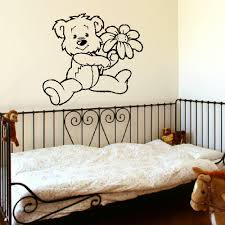 online get cheap teddy bear nursery aliexpress com alibaba group d303 large nursery baby teddy bear wall mural giant transfer art stencil decal