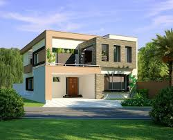 span new 3d front elevation com beautiful modern 1 kanal home 3d