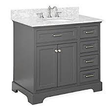 36 bathroom vanity carrara charcoal gray