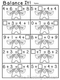 frebbie balancing equations assessment first grade 1st grade