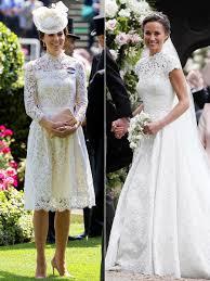 kate middleton wedding dress kate middleton s royal ascot dress looks like pippa middleton s
