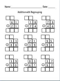 ended math worksheets for addition and subtraction with regrouping