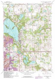 Lake Maps Mn White Bear Lake East Topographic Map Mn Usgs Topo Quad 45092a8