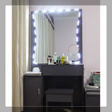 vanity table with lighted mirror and bench bedroom modern vanity table with mirror and bench modern makeup