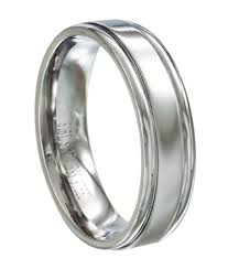 mens stainless steel wedding bands stainless steel men s wedding ring polished groove design 6mm