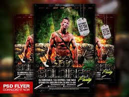 soldiers army military flyer template psd on behance