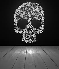 skull decor skull decal skull flowers flower skull vinyl wall skull decor skull decal skull flowers flower skull vinyl wall decal vinyl sticker wall decor wall decal home dorm bedroom decor