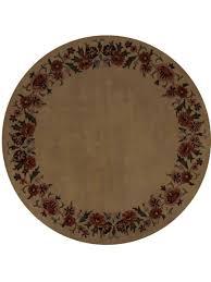 Cream Round Rug Buy Floral Hand Tufted Woolen Round Rug Cream K00648 K00648 Online