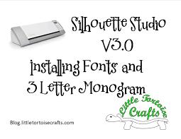 3 letter monogram silhouette studio de v3 install font 3 letter monogram