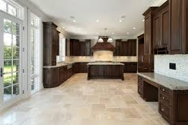 glamorous kitchen floor tiles with light cabinets