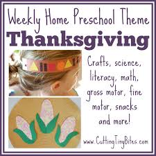 thanksgiving theme weekly home preschool what can we do with