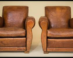 Vintage Leather Club Chairs Etsy