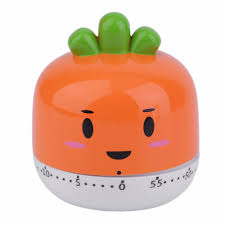 Orange Kitchen Accessories by 4 Colors Cute Fruit Vegetables Style Cartoon Kitchen Timer Alarm