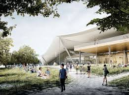 big and heatherwick reveal revised plans for google u0027s mountain