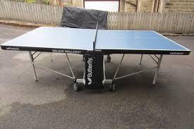 butterfly outdoor rollaway table tennis butterfly deluxe outdoor rollaway table tennis table blue in