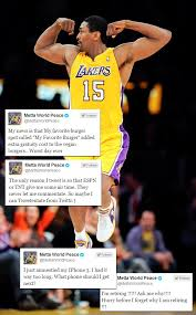 Metta World Peace Meme - metta world peace reacts to getting amnestied with a bunch of