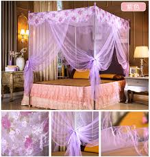 Purple Bed Canopy 2 Color For Choose Beautiful Bed Net Mesh Room Decoration Netting
