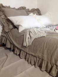 Etsy Bedding Duvet Items Similar To Linen Duvet Cover With Ruffles Natural 100 Pure