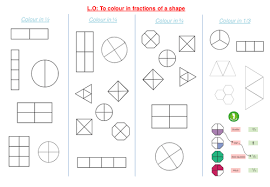 shading fractions of a shape by funky blues teaching resources tes