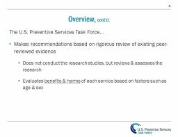 understanding how the uspstf works uspstf 101 us preventive