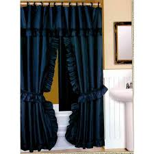 Fabric Shower Curtains With Valance Double Swag Fabric Shower Curtain Vinyl Liner Shower Rings