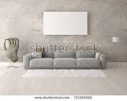 the livingroom white poster living room scandinavian design stock illustration