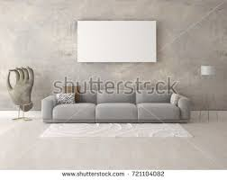 the livingroom mock stylish living room fashionable corner stock illustration