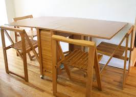 collapsible dining room table space saving folding dining table room and foldable kitchen chairs