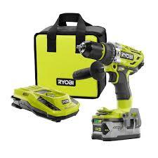 ryobi 18 volt one brushless hammer drill kit p1813 the home depot