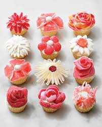 cupcake flowers candy flower cupcakes no piping required martha stewart