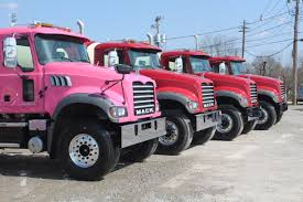 mack trucks for sale smith concrete goes pink with a mack truck from marietta truck