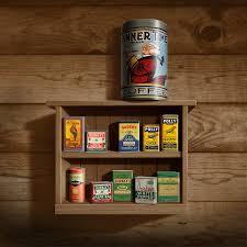 Vintage Wooden Spice Rack Wall Spice Rack Americana Kitchen Art Decor Vintage Spice Cans