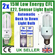 light bulbs with sensors low energy 2x 15w low energy dusk till dawn sensor security lamp night light
