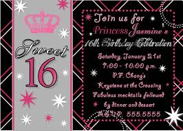 16th birthday party invitations templates free cloudinvitation com