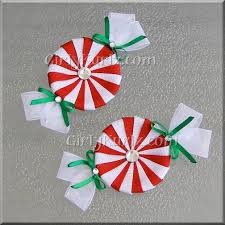 christmas hair bows white peppermint candy hair christmas hair bow