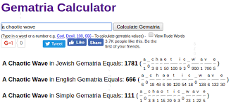 letters numbers gematria oh my a chaotic wave